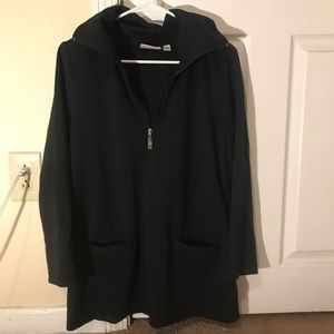 Black half zip up track jacket